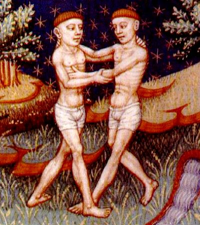 Gemini scanned this image from a reproduction of a (normand?) medieval book of astrology (15th century). fra Wikipedia